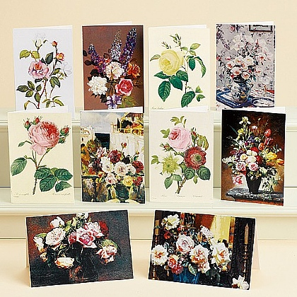 Cartes roses à travers l'art