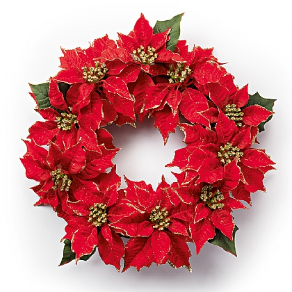 Couronne poinsettia