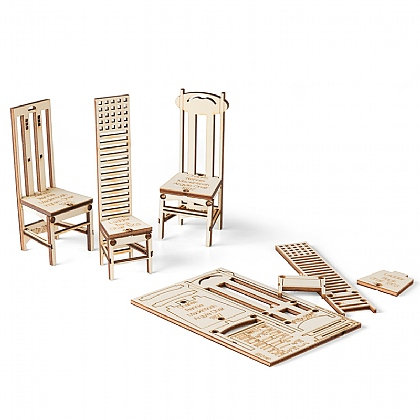 Lot de 3 cartes chaises Mackintosh